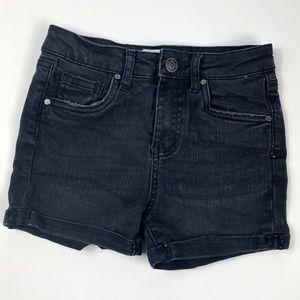 RSQ Sunset High Rise Black Cuffed Jean Shorts